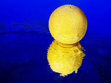 Free Yellow Melon And Waves Stock Photography - 14262592