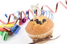 Free Cake On The Fifth Anniversary Royalty Free Stock Photo - 14262885
