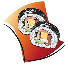 Free Sushi Illustration Royalty Free Stock Photo - 14262925