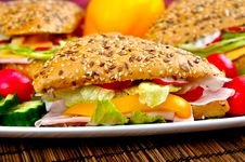 Free Triangle Fresh Sandwich Royalty Free Stock Photo - 14263155
