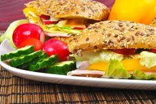Triangle Fresh Sandwich Stock Photo