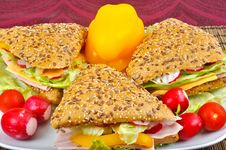 Free Triangle Fresh Sandwich Royalty Free Stock Images - 14263199