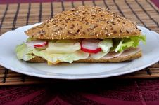 Free Triangle Fresh Sandwich Stock Images - 14263224