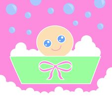 Baby Bath_Pink Royalty Free Stock Images