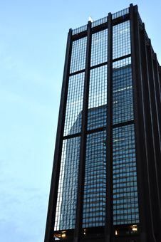Free Reflection Of Building In Windows Royalty Free Stock Photos - 14263558
