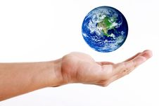 Planet On Hand Royalty Free Stock Photos
