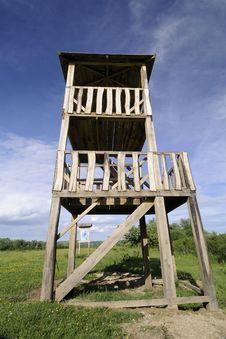 Wooden Watchtower Stock Photo