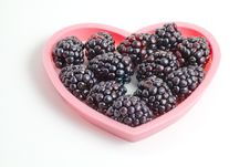 Free In Love With Blackberries! Royalty Free Stock Photo - 14264255