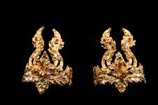 Accessories For Traditional Thai Dancer Royalty Free Stock Images