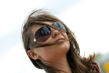 Free Teen Girl In Sunglasses Royalty Free Stock Images - 14264709