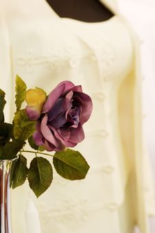 Rose And An Elegant Costume Royalty Free Stock Photo