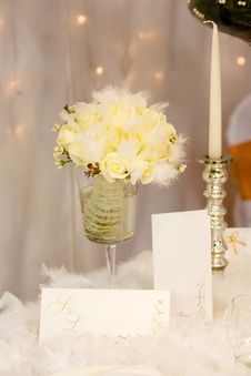 Free Flowers And Candle Stock Photo - 14264850