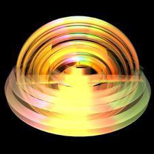 Free An Abstract Shape In Colors - A 3d Image Royalty Free Stock Photos - 14265548