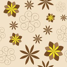 Free Seamless With Brown Flower Stock Photography - 14266742