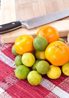 Vitamin C Ingredients Royalty Free Stock Images