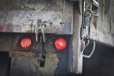 Tail Light Truck Royalty Free Stock Photo