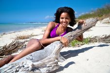 Free Beautiful Caribbean Brunette Posing Stock Image - 14267511