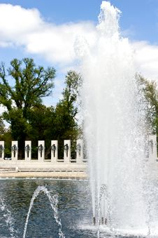 Fountains At World War II Memorial Washington DC Stock Photography