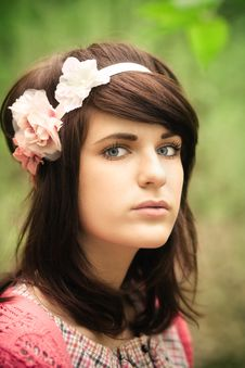 Young Pretty Girl Portrait Stock Photo