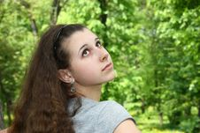 Free Pretty Girl In The Park Stock Photography - 14267612