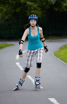 Free Rollerblade Girl III. Stock Photo - 14267620