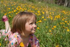 Free Smiling Little Girl Royalty Free Stock Image - 14267756