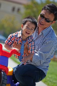Free Father And Son Have Fun Stock Image - 14267861