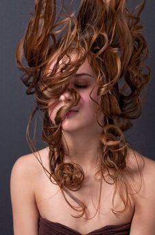 Free Teenager Doing Hair Flip Royalty Free Stock Photo - 14268845