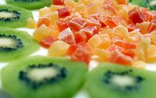 Free Kiwi With Candied Fruits Royalty Free Stock Image - 14268846