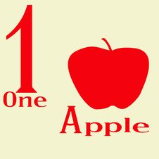 Free One Apple Royalty Free Stock Images - 14269669