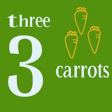 Free Three Carrots Royalty Free Stock Photos - 14269798