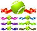 Free Tennis Ball With Ribbon Set Royalty Free Stock Image - 14271816