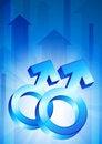 Free Gay Gender Symbols On Blue Arrow Background Royalty Free Stock Photos - 14271918