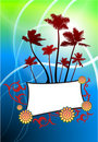 Free Tropical Frame On Abstract Light Background Stock Photos - 14272293