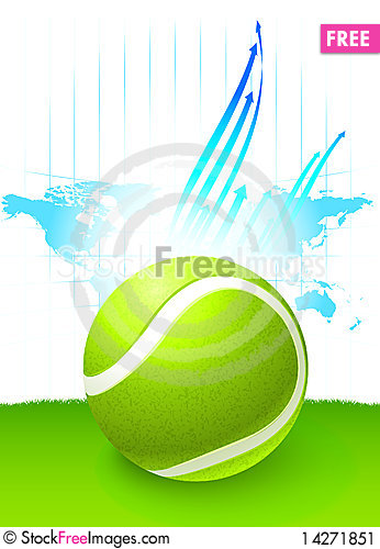 Tennis ball with world map background free stock images photos tennis ball with world map background gumiabroncs Images