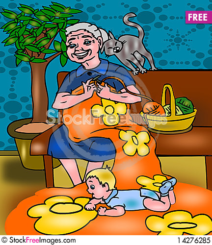 Free Grandmother With Grandson Royalty Free Stock Photo - 14276285