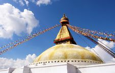 Stupa On Blue Sky Background Royalty Free Stock Images