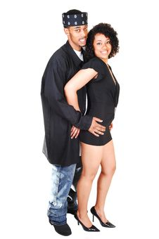 Young Hispanic And Black Couple. Royalty Free Stock Image