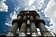Free Factory Stacks And Blue Sky Stock Image - 14270801