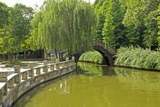 Free Picturesque Canal Scene In Central China Stock Image - 14270861