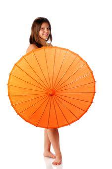 Parasol Teen Royalty Free Stock Photo