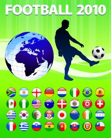 2010 Global Soccer Football Match Stock Photos