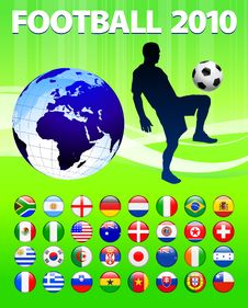 2010 Global Soccer Football Match Royalty Free Stock Images