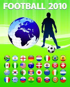 2010 Global Soccer Football Match Stock Photo