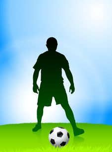 Free Soccer Player On Daytime Background Royalty Free Stock Photo - 14271505