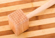 Free Wooden Meat Tenderizer Isolated Stock Photo - 14271510