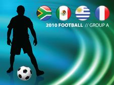 Soccer Player On Abstract Liquid Wave Background Royalty Free Stock Photo