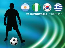 Free Soccer Player On Abstract Liquid Wave Background Stock Images - 14271624