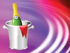Free Champagne On Abstract Liquid Wave Background Stock Photos - 14271643
