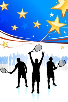 Free United States Tennis Team Royalty Free Stock Photo - 14271795